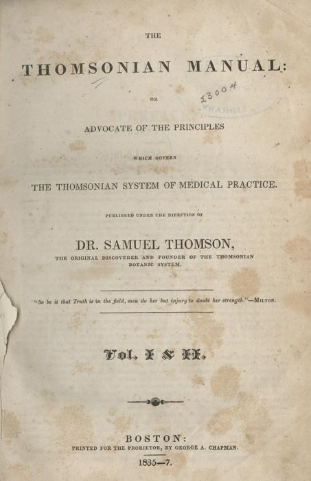 The Thomsonian Manual