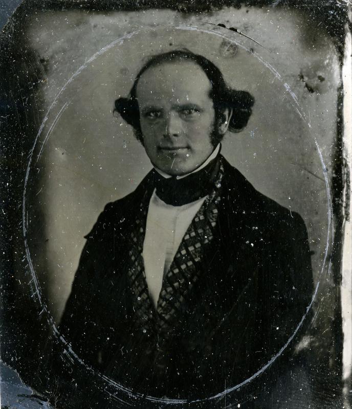 Tintype of a Daguerreotype of Horace Wells.