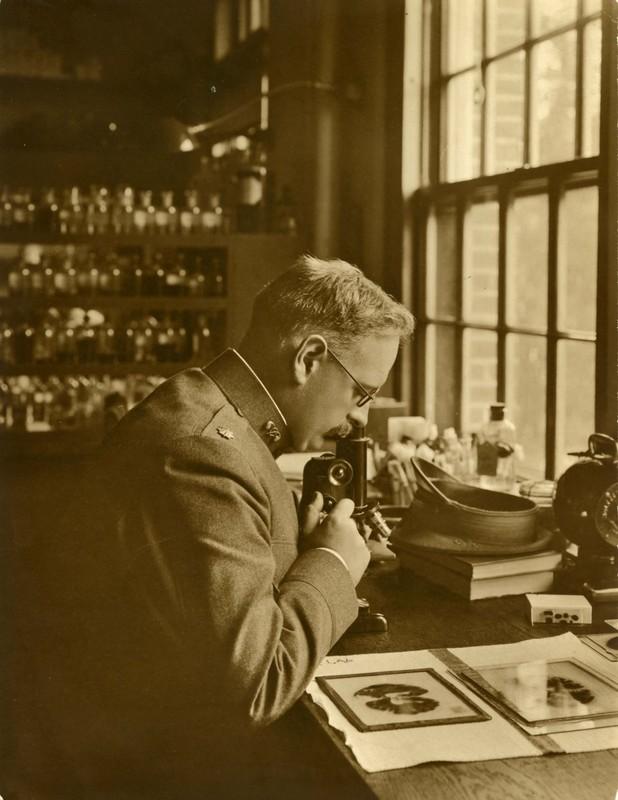 Photograph of Elmer Ernest Southard, circa 1918.