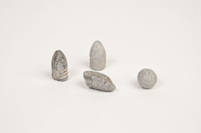 Minie and other lead balls from American Civil War<br />