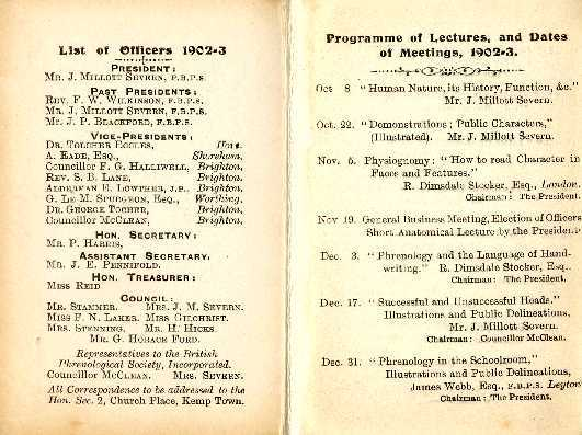 Programme of Lectures, and Dates of Meetings, 1902