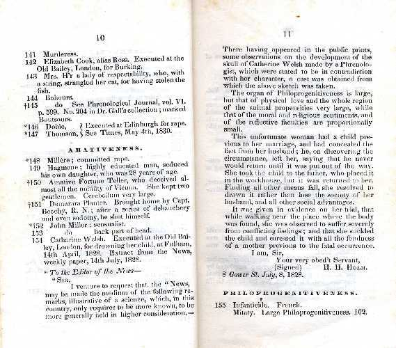 A Catalogue of Phrenological Specimens Belonging to the Boston Phrenological Society