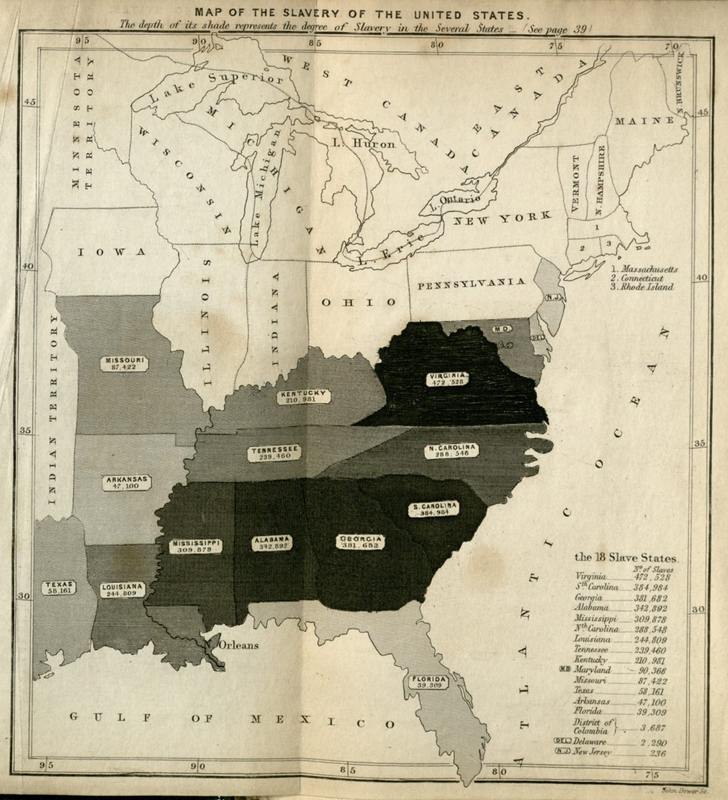 """Map of the Slavery of the United States."""