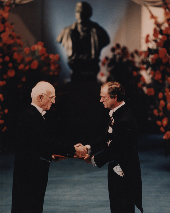 Dr. Murray Receiving Nobel Prize