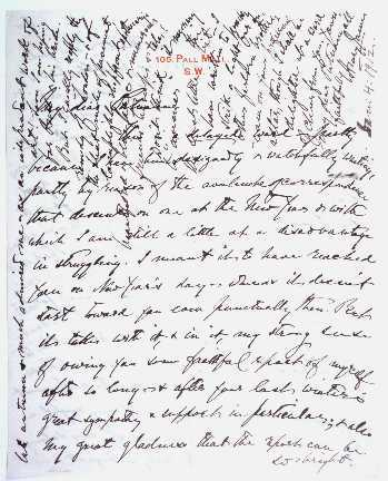 Autograph Letter Signed : from Henry James, London, England, to Dr. James Jackson Putnam, Boston, Massachusetts