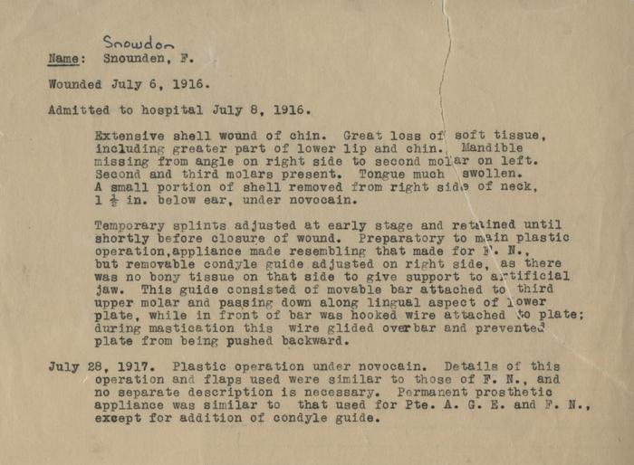 Case Report of Corporal Snowdon