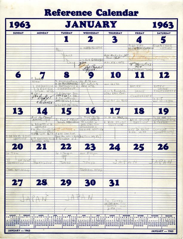 Alan Guttmacher's Calendar