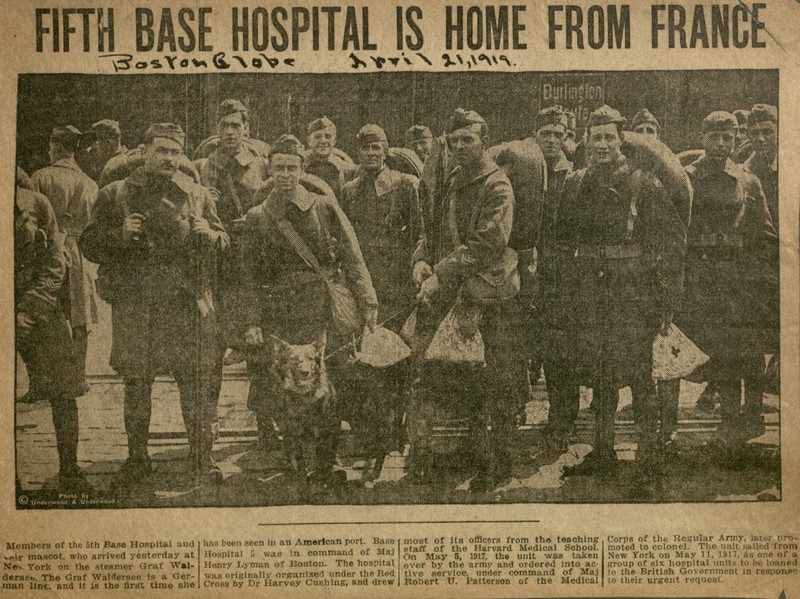 &quot;Fifth Base Hospital is Home from France.&quot; <br />