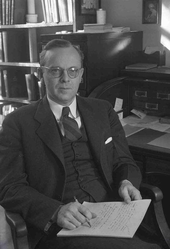 Photograph of Alan Richards Moritz, circa April 1949.