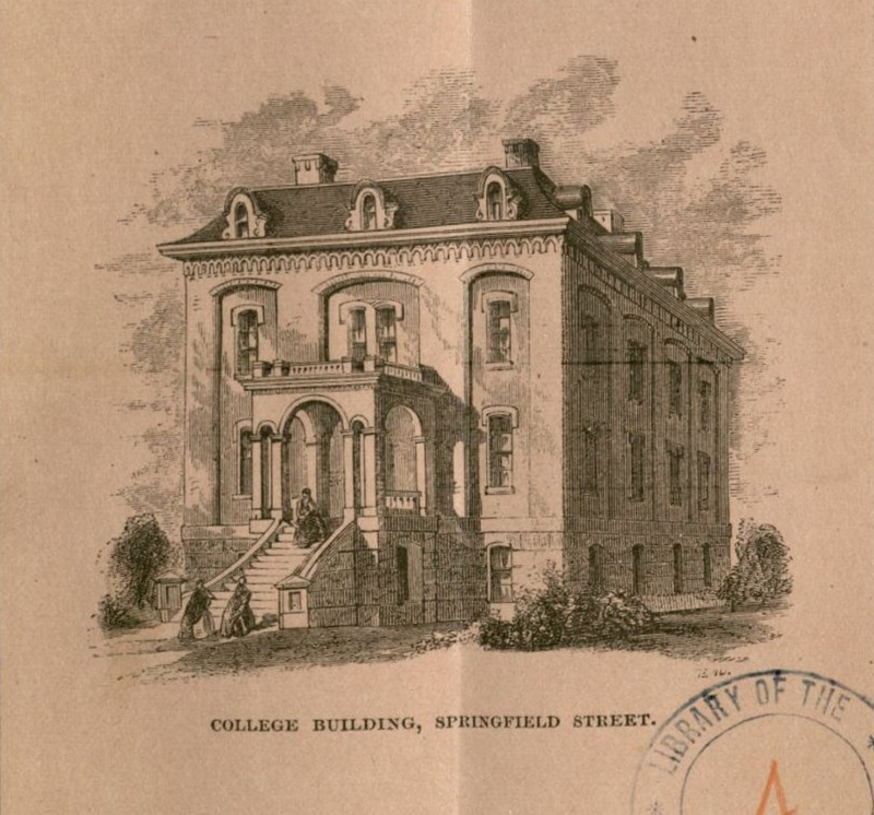 The New England Female Medical College building on Springfield Street