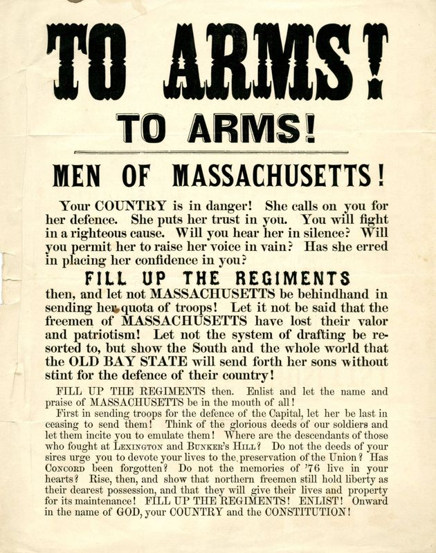 """To arms! To arms! :  Men of Massachusetts! Your country is in danger!  ... <br />