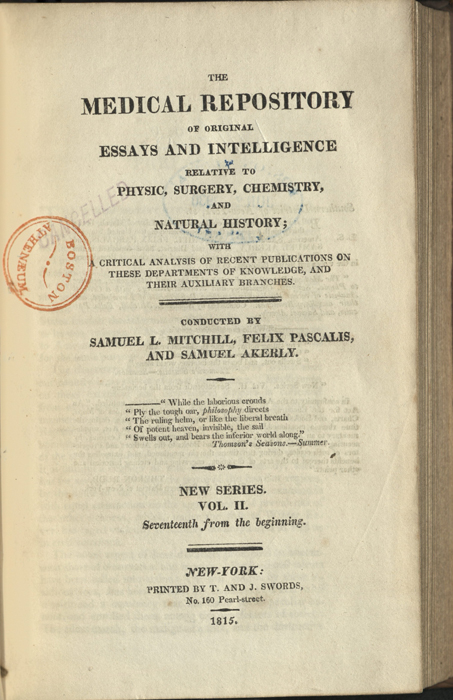 the medical repository of original essays and intelligence   collections countway harvard edu onview file upload