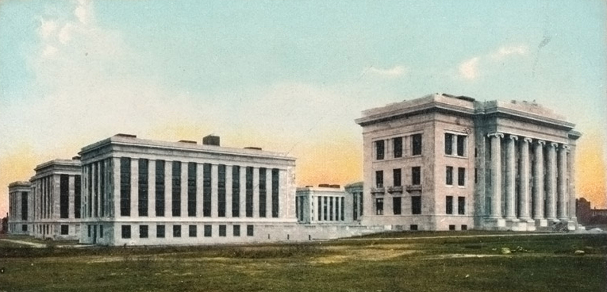 Color Postcard Of Harvard Medical School 183 Center For The