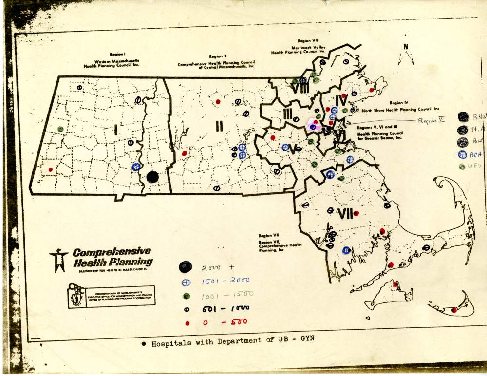 Map of hospitals in Machusetts with an obstetric/gynecological ... Hospitals In Machusetts Map on