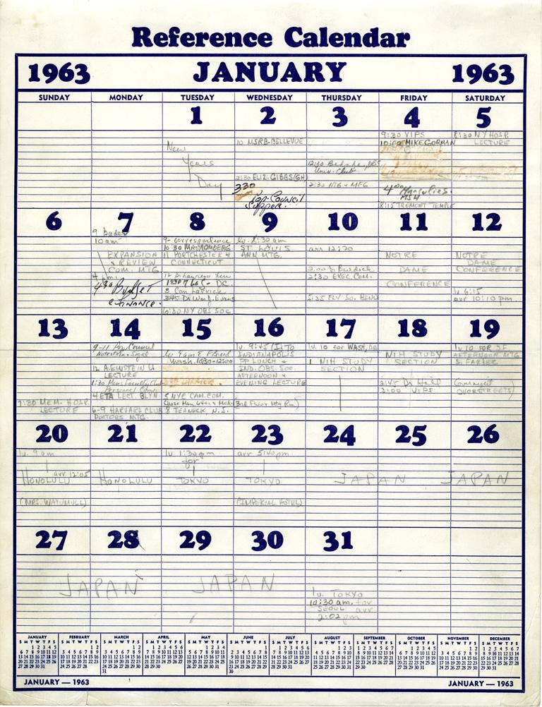 Harvard Calendar.Alan Guttmacher S Calendar Onview Digital Collections Exhibits