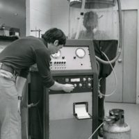 Researchers testing a respirator at the Harvard School of Public Health