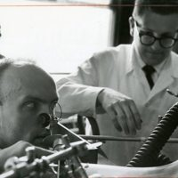 Joseph Milic-Emili and Vlad Fencl measure breath with a Plethysmograph
