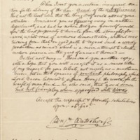 Letter from Benjamin Waterhouse to Nathaniel Bowditch