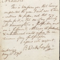 Letter from Benjamin Waterhouse to David Carlisle
