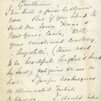 Letter from Florence Nightingale to Messrs. Mausell