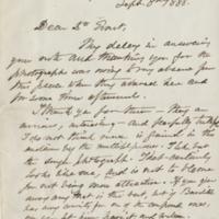 Letter from Oliver Wendell Holmes to Harold C. Ernst