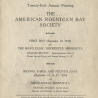 Program, twenty-first annual meeting