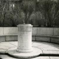 Oliver Wendell Holmes memorial sundial on the Charles River Esplanade
