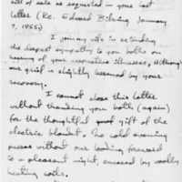 Letter from George Bibring to his parents