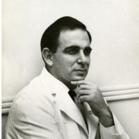 Photograph of Morris Simon at work