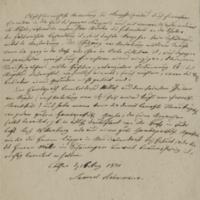 Letter from Samuel Hahnemann