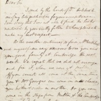 Letter from Benjamin Waterhouse to a Mr. Gourgas