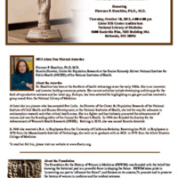Invitation for the Alma Dea Morani Award ceremony for Florence Haseltine