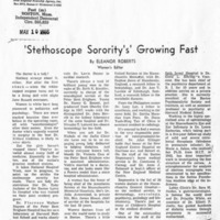 """'Stethoscope Sorority's' Growing Fast"""