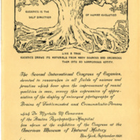 Certificate from the Second International Congress of Eugenics