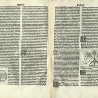 Sphera cum commentis in hoc volumine contentis videlicet Cichi Esculani cum textu...