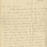 Letter from Corporal Snowdon to Dr. Kazanjian