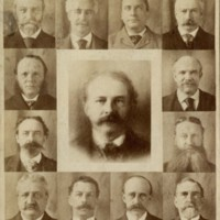 Twelve Boston physicians and their composite portrait