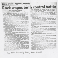 Rock wages birth control battle