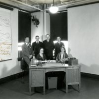 Men and women seated in a physiology classroom at the Harvard School of Public Health