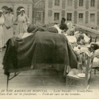 American Ambulance Hospital Picture Postcards: