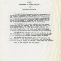Credo of the Department of Legal Medicine of Harvard University, circa 1960.