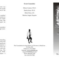 Invitation for the Alma Dea Morani Award ceremony for Carola Eisenberg