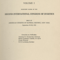 international eugenics essay Vol2 has subtitle: report of proceedings of the first international eugenics congress held at the university of london, july 24th to 30th, 1912.