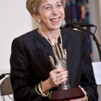 Ellen R. Gritz with the Alma Dea Morani Award