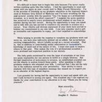 Letter from Douglas F. Paulsen to Elizabeth Hay