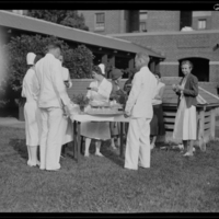 Party on the lawn during the Peter Bent Brigham Hospital nurse ...