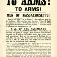 &amp;quot;To arms! To arms! :  Men of Massachusetts! Your country is in danger!  ... <br />