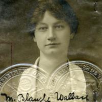 Passport photograph of M. Blanche Wallace, 1918.&lt;br /&gt;<br /> &lt;br /&gt;<br />