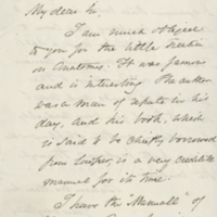 Letter from Oliver Wendell Holmes to John Samuel Whiting