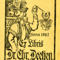 Bookplate of Christian Deetjen